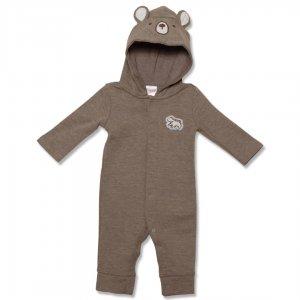 لباس سرهمی نوزاد پسر | سرهمی نوزادی پسرانه کارترز همراه با کلاه خرسی