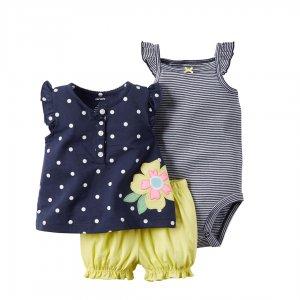 لباس بچه گانه دخترانه   لباس نوزادی دخترانه کارترز، ست شامل بادی نوزادی دخترانه