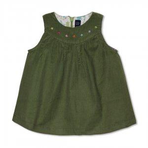 سارافن بچه گانه | پیراهن دوبند دخترانه کوتاه GAP بسیار زیبا و بادوام