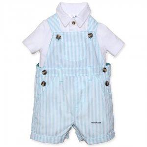 لباس پیش بندی بچگانه پسرانه | به همراه تی شرت یقه دار فوق العاده راحت و خاص