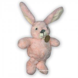 عروسک خرگوش نرم صورتی