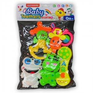 ست اسباب بازی هدیه جغجغه و دندونی نوزاد پسرانه