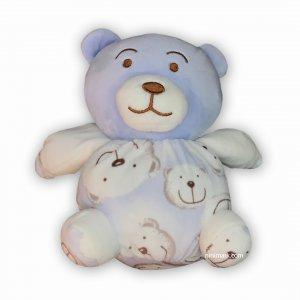 عروسک جغجغه دار خرس توپولی آبی