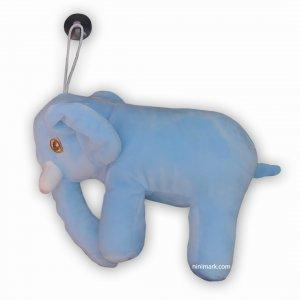 عروسک فیل نرم آبی