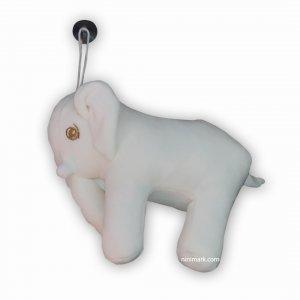 عروسک فیل نرم سفید