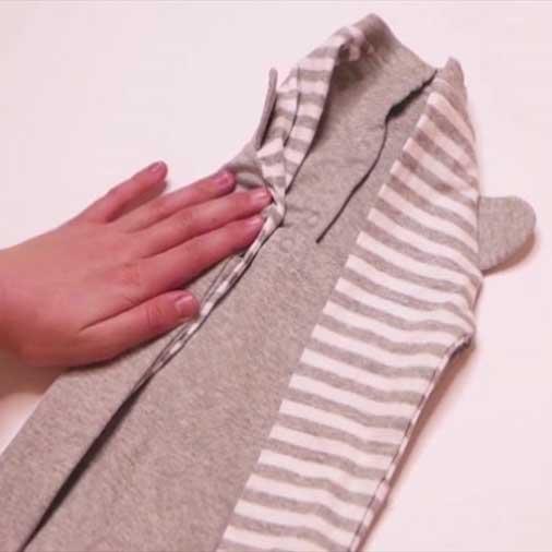 چند روش فوق العاده تا کردن لباس کودک