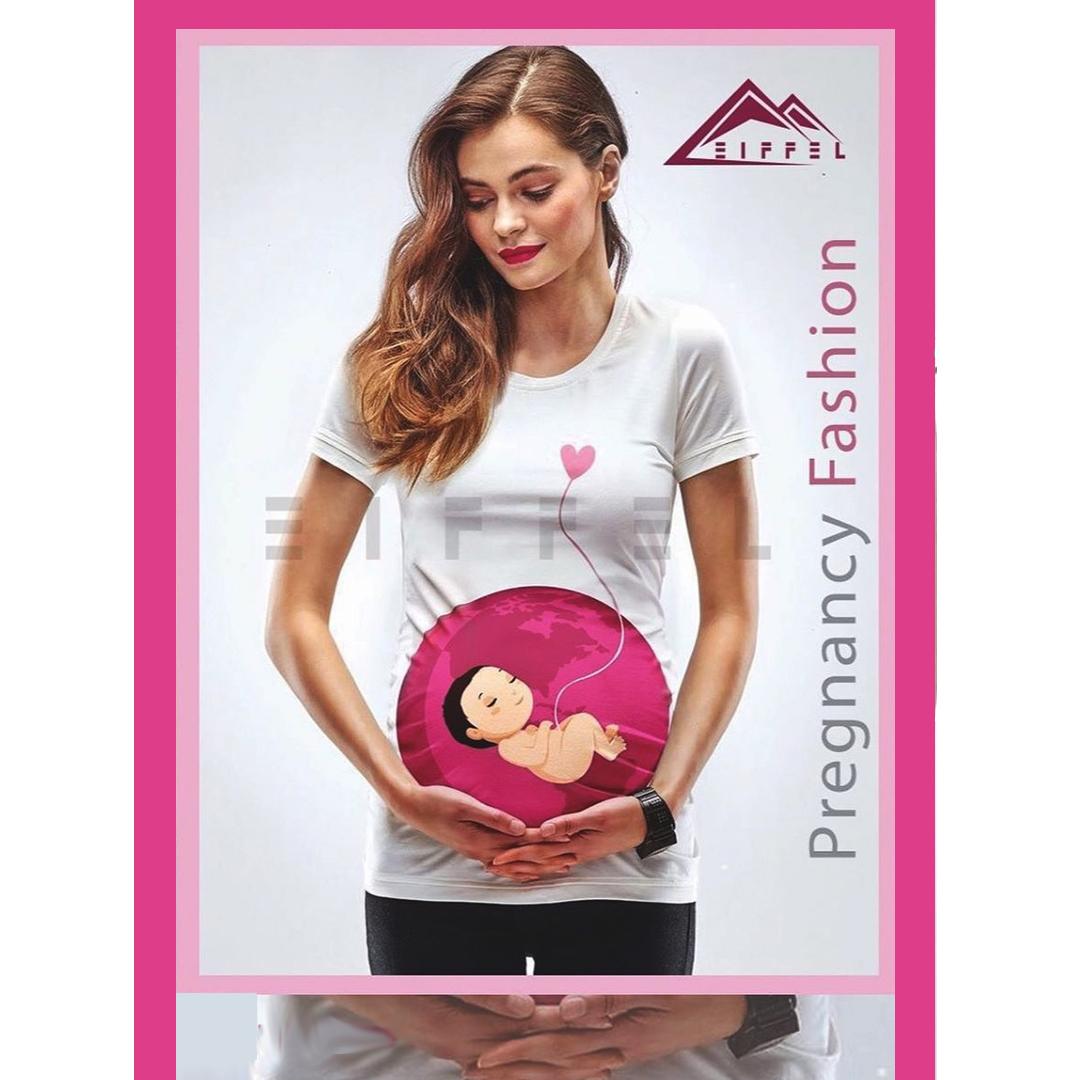 تیشرت حاملگی تک مدل مامزی کد 870
